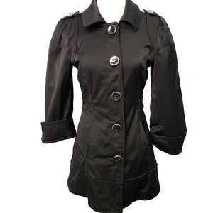 Guess Jeans Classic Urban Short Trench Coat Size Small